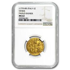1779-1789 Venice Gold Zecchino Ducat MS-62 NGC
