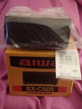 AIWA SX-C605 CENTER SPEAKER FACTORY SEALED, SILVER, A PERFECT SOUND ENHANCEMENT