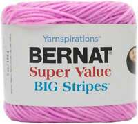 Bernat Super Value Big Stripes Yarn Candyfloss 057355421844