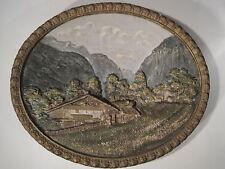 Ancien Plat Ovale Haut Relief Peint Main Numéroté WILHELM SCHILLER & SOHN WS&S 2