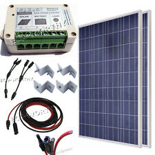 200W OFF GRID COMPLETE KIT :2 x 100W Photovoltaic PV Solar Panel system RV Boat