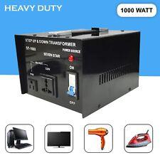 SevenStar ST-1000W Watt Voltage Transformer Up/Down 110V to 220 Volt Converter