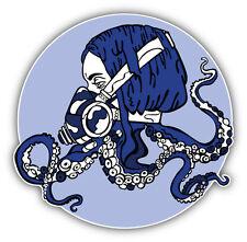 Steam Punk Octopus Girl Car Bumper Sticker Decal 5'' x 5''