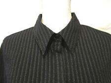 17a90c8267e Lane Bryant Top Shirt Blouse Button Front Size 14 16 Womens Striped 3 4  Sleeve