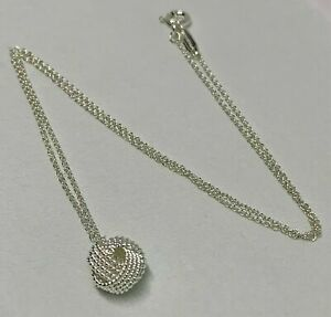 """$175 Tiffany & Co Sterling Silver 925 Twist Knot Pendant on 16""""inch Necklace"""