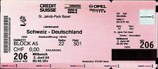Ticket / Eintrittskarte 02.06.2004 Schweiz - Deutschland in Basel