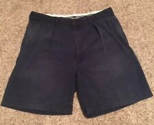 Polo Golf Ralph Lauren Shorts Sz 34 x 9 Fairway Fit Navy Cotton Stretch Pleated