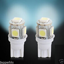2 x T10 W5W 501 5 SMD 5050 LED HIGH POWER CANBUS CAR SIDE LIGHT WEDGE WHITE BULB