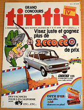 BD Comics Magazine Hebdo Journal Tintin No 2 33e 1978 Fiat 128
