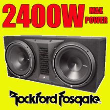 "Rockford Fosgate Double 12"" PUNCH 2400w Car Audio Subwoofer Sub Woofer Bass Box"