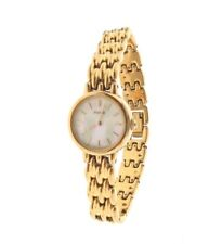 Pulsar Mother of Pearl Gold Tone Watch V400-0890 6.25""