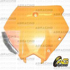 Orange Front Number Plate with Black Hose Bracket For KTM SX SXF 2003-2006