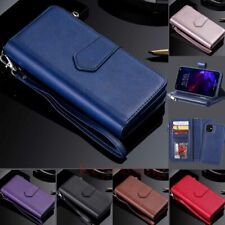 For iPhone 11 Pro Max XR 6s 7 8 SE Removable Magnetic Leather Wallet Case Cover