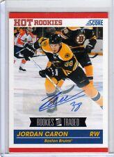 JORDAN CARON 10/11 Score Update Rookie Auto Autograph #598 SP Signed Card
