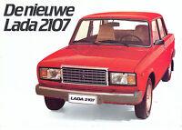Lada 2107 1983 Dutch market sales brochure