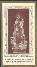 Estampa antigua Virgen del Carmen andachtsbild santino holy card santini
