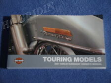2007 Harley touring road king electra glide street fltr ultra flhr owners manual