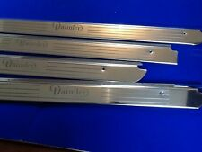 XJ6 DAIMLER Series 1 SWB stainless tread plates etched logo door sills