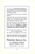 1938 Southwark  J H Furneaux Fancy Box Makers D B Wilson House Furnishing Store