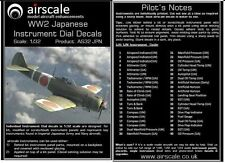 WW2 Japanese Instrument Dial Decals, 1/32 scale, Airscale AS32 JPN