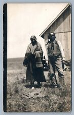 AMERICAN INDIAN FAMILY 1912 ANTIQUE REAL PHOTO POSTCARD RPPC
