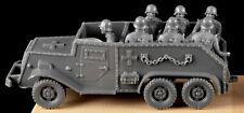 Marx WWII German Halftrack with 7 Riders - gray plastic - 1990 - low stock