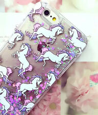 Dynamic Liquid Glitter Quicksand Unicorn Phone Case Cover For iPhone 5 6s 7 Plus