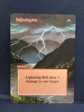 Lightning Bolt MTG Magic Revised Edition Hand Painted Altered Full Extended Art