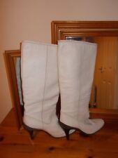 Ladies  BRONX cream knee high boots size 39(6) VGC