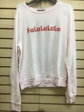 Wildfox Couture Falalalala Sweatshirt New Womens sz M
