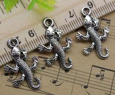 Free Shipping 20pcs Jewelry Making lizards Alloy Charm Pendant DIY 25x15mm