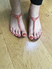 PRADA EMBELLISHED THONG SANDALS SHOES  Size 35 1/2 UK 2 1/2 US 5 1/2