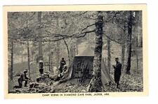 AR - JASPER ARKANSAS Postcard CAMP SCENE TENT DIAMOND CAVE PARK