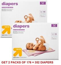 Nursery Up&Up Diapers 2 Giant Packs Disposable Underpants Baby Ointments Pails