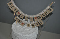 ALL YOU NEED IS LOVE cake bunting banner Top Ties Wedding Cake Garland Rustic