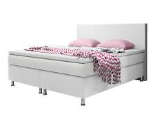Boxspringbett Madrid 180x200 cm Kunstleder Weiß Bett Hotelbett Designerbett