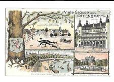 Ak Ansichtskarte Hessen Offenbach Main 1906 Litho