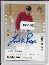 "JUSTIN ROSE 2002 SP Authentic ROOKIE AUTOGRAPH ""SP Limited (GOLD) #95 #062/100"