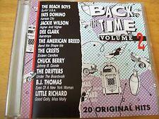 BACK IN TIME VOLUME 2  20  ORIGINAL HITS CD AAD  BEACH BOYS JACKIE WILSON