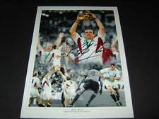 Martin Johnson England Rugby Union Legend Wolrd Cup signed photo mount COA AFTAL