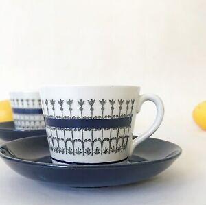 Vintage Gefle Smide 2x duos cups   Uppsala Ekeby   Swedish Scandinavian MCM