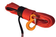 """Red 5/16""""×100ft Synthetic Rope,ATV Winch Cable,Offroad Rope for ATV Winches"""