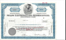 PHILIPS ELECTRONICS AND PHARMACEUTICAL INDUSTRIES CORP....1969 STOCK CERTIFICATE