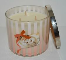BATH & BODY WORKS CAFE AU LAIT SCENTED CANDLE 3 WICK 14.5 OZ LARGE COFFEE LATTE