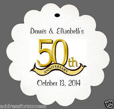 24 Personalized 50th Anniversary Wedding Favor Scalloped Tags Party Favors