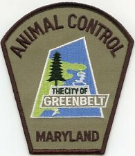 GREENBELT MARYLAND MD ANIMAL CONTROL police PATCH