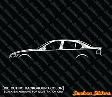 2x silhouette stickers auto aufkleber -for BMW e90 3er ,4-door Limousine 330 335