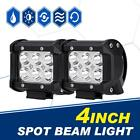 "Pair 4"" inch 18W LED Work Light Bar Cube Pod Offroad Fog Lamp 4WD SUV ATV Pickup"