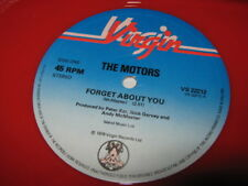 THE MOTORS Forget About You UK dj 12 inch single record red colored vinyl power