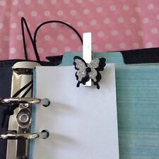 Filofax Today Page Marker Fits All Filofax LIMITED EDITION Silver  Butterfly
